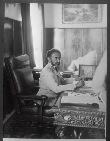Portrait of Emperor of Ethiopia Haile Selassie