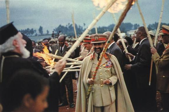H.I.M. Haile Selassie I celebrating Meskal