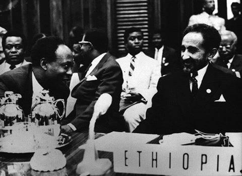 Haile Selassie I and Kwame Nkrumah