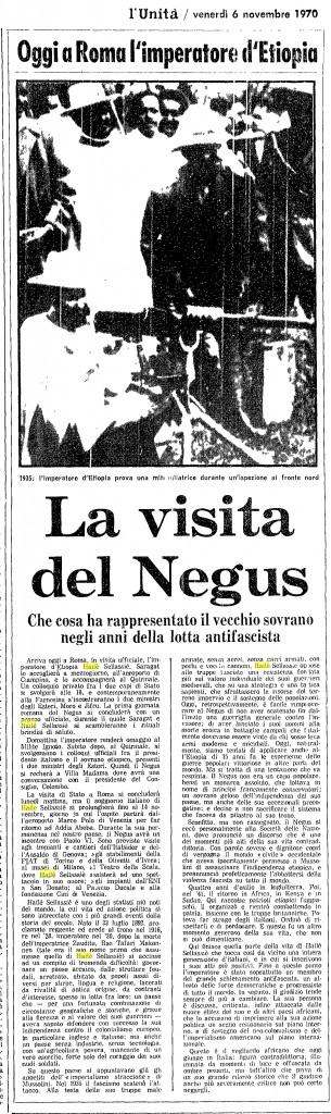 La visita del Negus