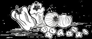 Insalata di ceci, peperoni e cipolline novelle